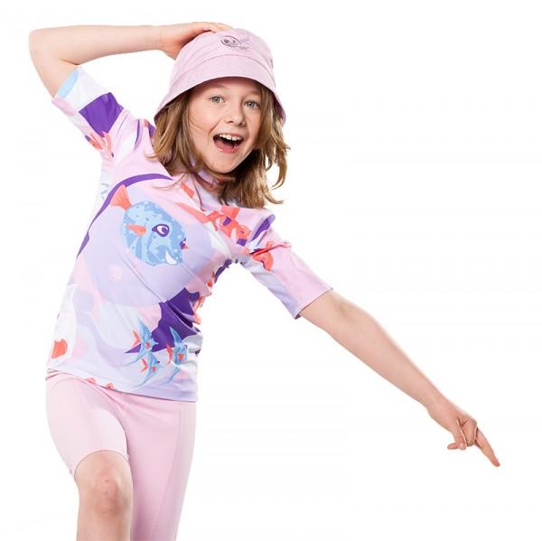 UV Sonnenschutz Kurzarmshirt 'waterworld liliati' für Kinder mit UPF 80 von hyphen