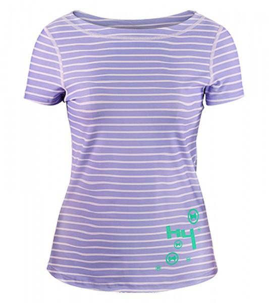 UV Sonnenschutz Kurzarmshirt 'striped sweet lave' für Frauen mit UPF 80 von hyphen