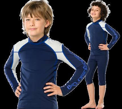 UV Sonnenschutz Langarmshirt 'race blue iris' für Kinder mit UPF 80 von hyphen