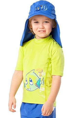 UV Sonnenschutz Kurzarmshirt 'snuppy dub wild lime' für Kinder mit UPF 80 von hyphen