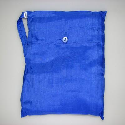 Seidenschlafsack zum Reisen in cobaltblau 85x250 cm mit Kopftteil