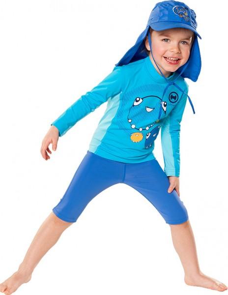 Kinder Langarmshirt 'moa mint azurito'