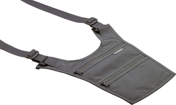 GO 616 Schulter-Geldbörse / Brustbeutel 'Wallet' in der Farbe schwarz