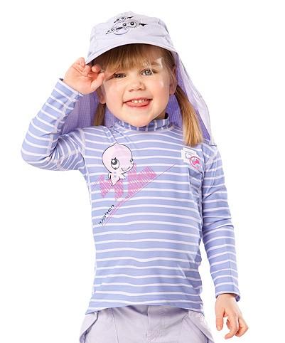Sonnenschutz Langarmshirt 'ocydoky strped' für Kinder mit UPF 80 von hyphen