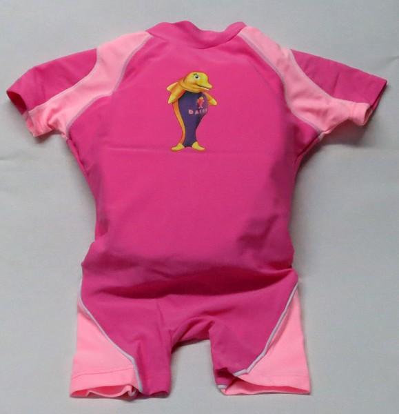 Aqua-Suit Kinderschwimmhilfe für Kinder von 2-3 Jahren mit UV-Schutz LSF +30, Farbe pink-rosa