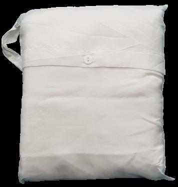 Seidenschlafsack mit Reissverschluss zum Reisen in ecru-weiss, 85x250 cm, 100 % Seide