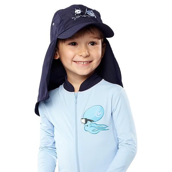 UV  Sonnenhut 'syc deep sea' für Kinder mit UPF 80 Grösse 38-40 von hyphen