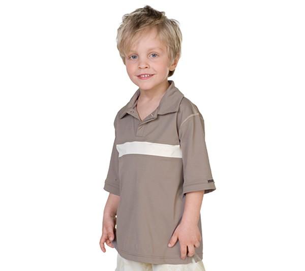 UV Sonnenschutz Kurzarm Poloshirt 'macchiato' für Kinder mit UPF 40 von hyphen