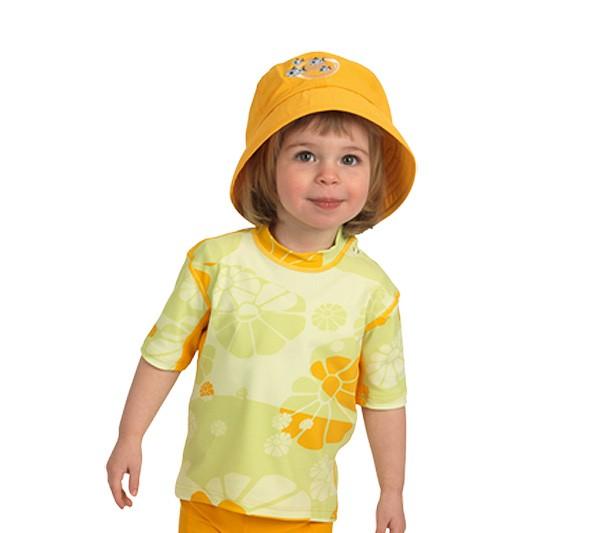 UV Sonnenschutz Kurzarmshirt 'mangoflower' für Kinder mit UPF 80 von hyphen
