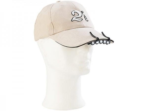 Clip-Licht für Baseball-Caps mit 5 weissen LEDs