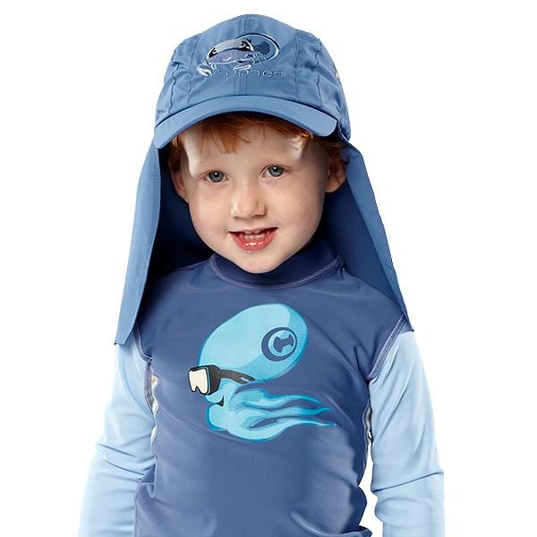 UV  Sonnenhut 'robo ike zaffira blue' für Kinder mit UPF 80 Grösse 42-44 von hyphen