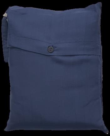 Seidenschlafsack mit Reissverschluss zum Reisen in dunkelblau, 85x250 cm, 100 % Seide
