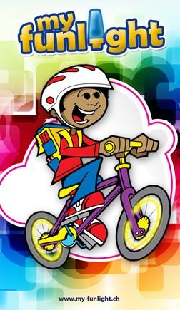 Velolicht und Fahrradlicht 'my-funlight' für Kinder