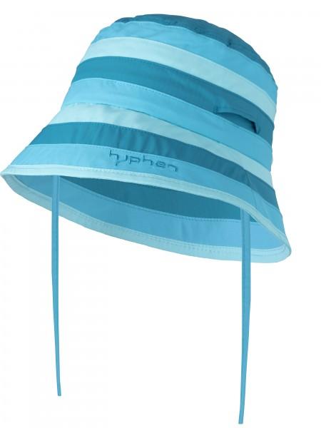 UV  Sonnenhut stripes azur` für Kinder  mit UPF 80 Grösse 50-52von hyphen