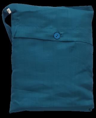 Seidenschlafsack in türkis110x250 cm