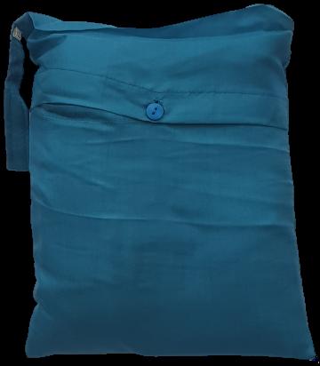 Seidenschlafsack zum Reisen in türkis, 176x250 cm, 100 % Seide