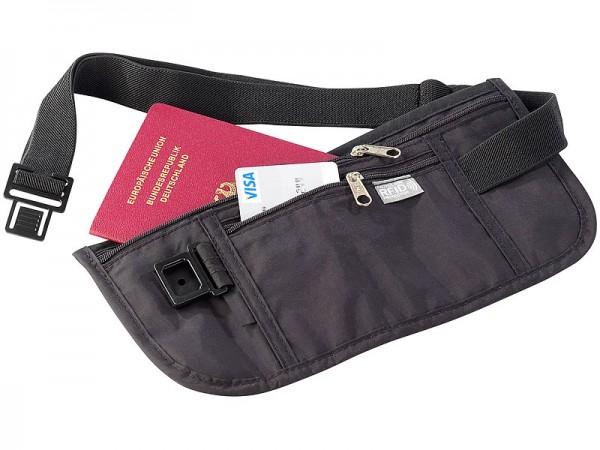 Semptec Bauchtasche mit RFID-Blocker