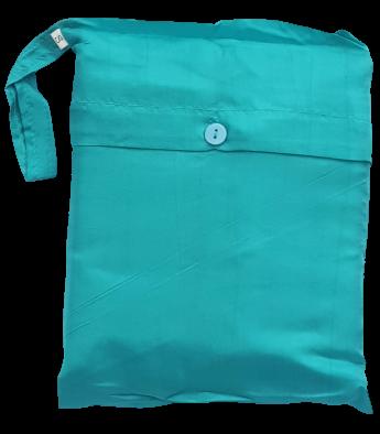 Seidenschlafsack zum Reisen für Kinder in mint 85x200 cm, 100 % Seide