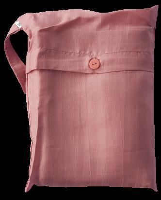Seidenschlafsack zum Reisen für Kinder in lachsrot 85x200 cm mit Kopftteil