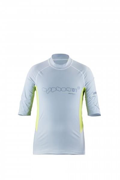 hyphen Kurzarmshirt 'satellite cobalt|bermuda'