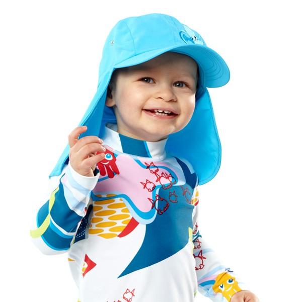 UV  Sonnenhut 'azurito' für Kinder mit UPF 80 Grösse 46-48 von hyphen