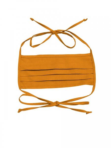 Mund-Nasen-Maske 2-lagig für Erwachsene von Hyphen in der Farbe orange mit UPF 80