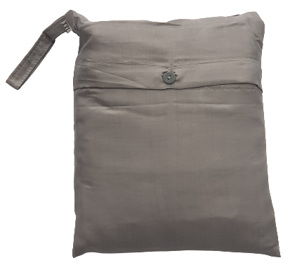Seidenschlafsack mit Reissverschluss zum Reisen in silbergrau, 85x250 cm, 100 % Seide
