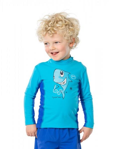 Sonnenschutz Langarmshirt 'sharky azurito' für Kinder mit UPF 80 von hyphen
