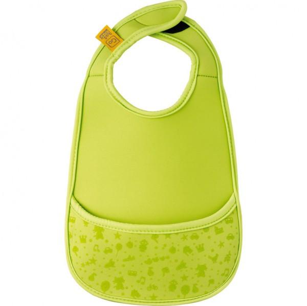 Baby-Latz aus Neopren für unterwegs in grün von Design Go