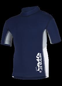 Kinder-Kurzarmshirt 'coo blue iris'