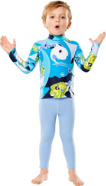 UV Sonnenschutz Langarmshirt waterworld azur' für Kinder mit UPF 80