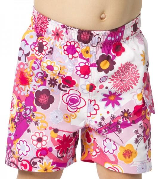UV Sonnenschutz Badeshorts 'flowers' für Kinder mit UPF 80 Marke hyphen