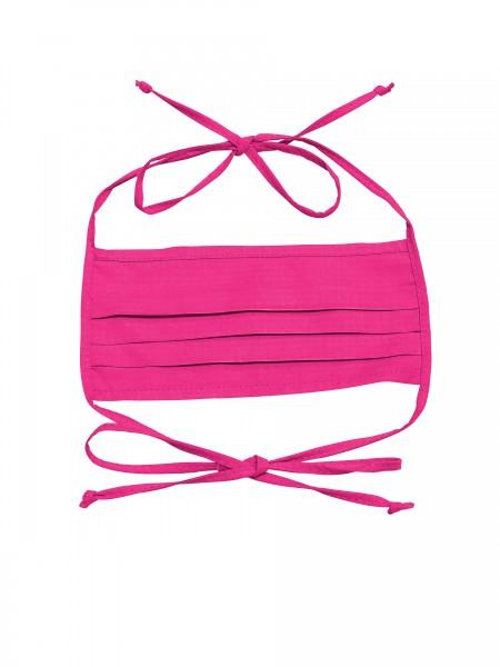Mund-Nasen-Maske 2-lagig für Erwachsene von Hyphen in der Farbe pink mit UPF 80