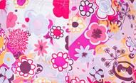 UV Sonnenschutz-Stoff 'flowers', non-elastisch, mit UPF 80, Marke hyphen