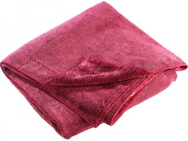 Semptec Mikrofaser-Badetuch, Grösse 180x90 cm, Farbe rot