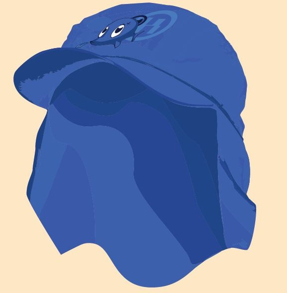 UV  Sonnenhut 'cobalt' für Kinder mit UPF 80 Grösse 46-48 von hyphen