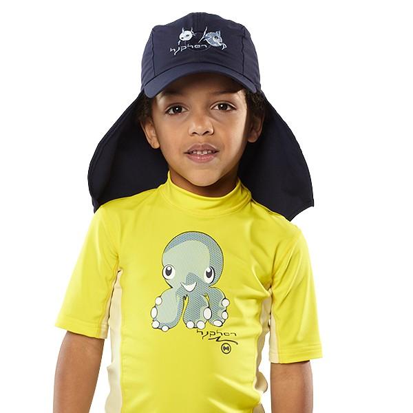 UV  Sonnenhut 'syc deep sea' für Kinder mit UPF 80 Grösse 42-44 von hyphen