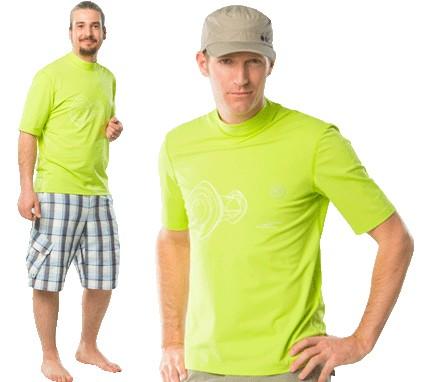 UV Sonnenschutz Kurzarmshirt 'cuped apple' 51152 für Herren mit UPF 80 von hyphen