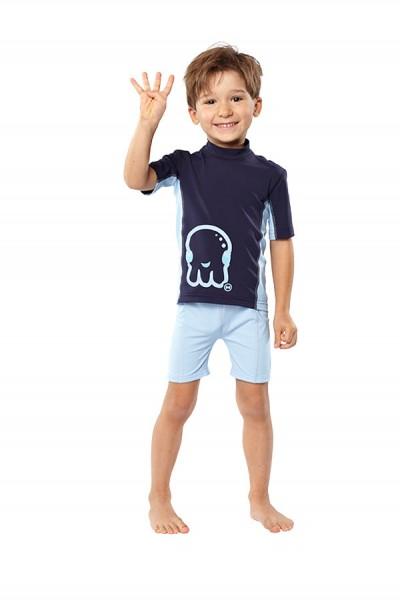 UV Sonnenschutz-Shorts 'pid blue für Kinder mit UPF 80 von hyphen