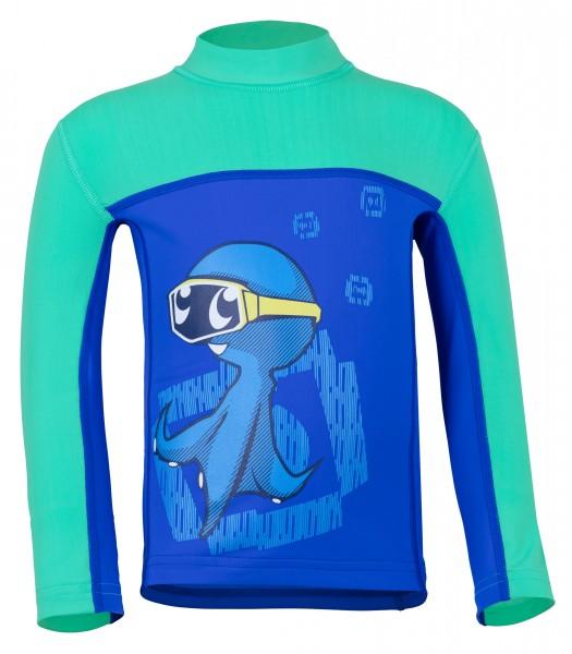 Kinder Langarmshirt 'ocy's dive bermuda / cobalt' mit UPF 80 von Hyphen