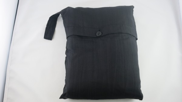 Seidenschlafsack in schwarz 110x300 cm