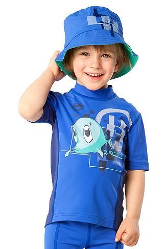 UV Sonnenschutz Kurzarmshirt 'snup the dub cobalt' für Kinder mit UPF 80 von hyphen, diverse Grössen